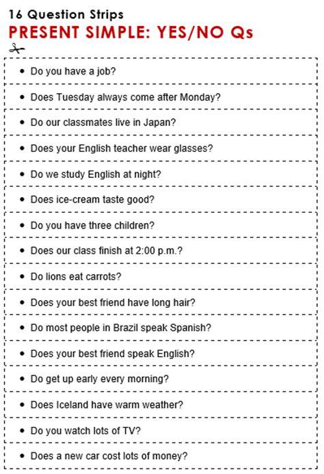 questions present   grammar