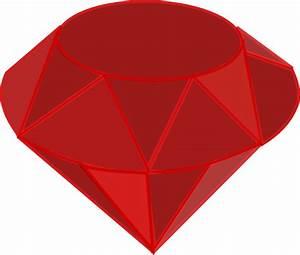 Ruby Gemstone Clip Art at Clker.com - vector clip art ...