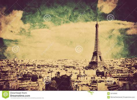 view   eiffel tower  paris france retro vintage