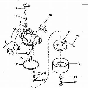 Craftsman Eager 1 Lawn Mower Carburetor Diagram
