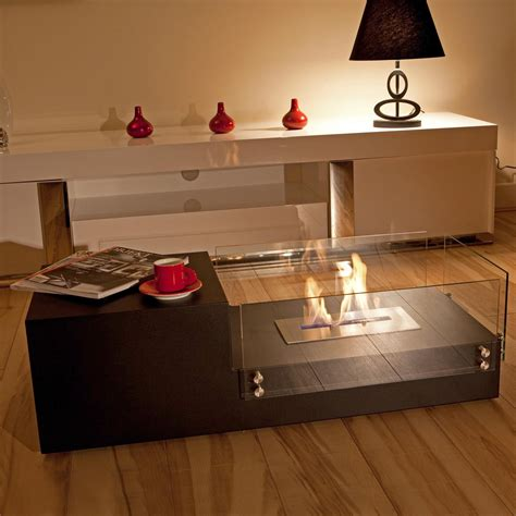 table with fireplace indoor fire pit table design options homesfeed