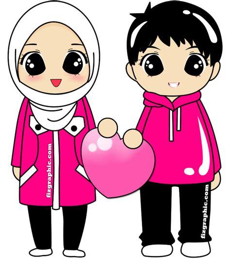 terkeren  gambar kartun muslim pasangan kekasih gambar