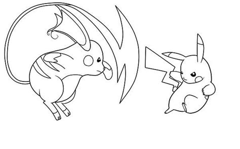 Kleurplaat Mega Evolutions Pikach by Pikachu And Raichu Coloring Pages Sketch Coloring Page