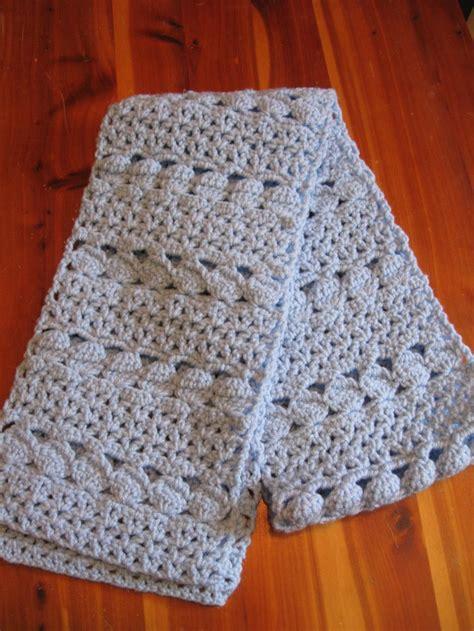 cozy blue crochet scarf allfreecrochetcom