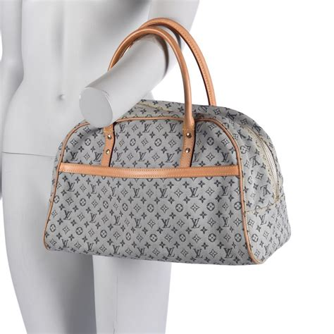 louis vuitton tote bag denim monogram vintage blue
