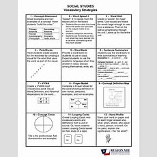 Frayer Model Template Word  Social Studies Vocabulary Strategies  Creative Literacy Resources