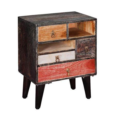Mango Wood Nightstand by Hawaii Colorful Rustic Mango Wood 4 Drawer Accent Nightstand
