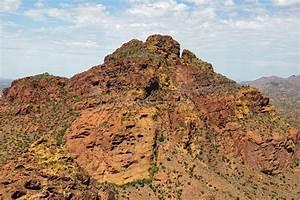 Mesa, Rising, Above, The, Desert, Stock, Photo