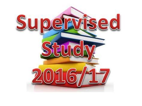 supervised study st pauls secondary school