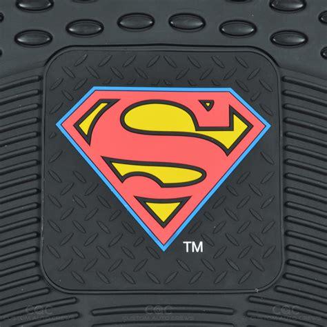 superman car mats superman seat covers 2 pc rubber floor mats for car