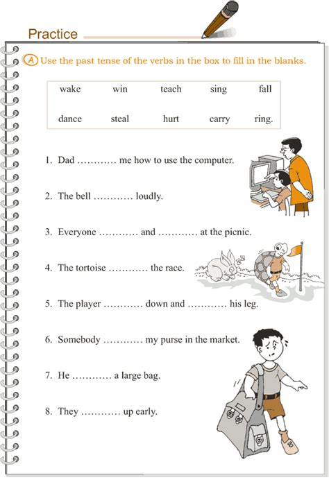 grade 3 grammar lesson 9 verbs the simple past tense 2