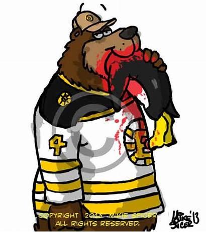 Bruins Boston Hockey Penguins Cartoon Feast Cartoonist