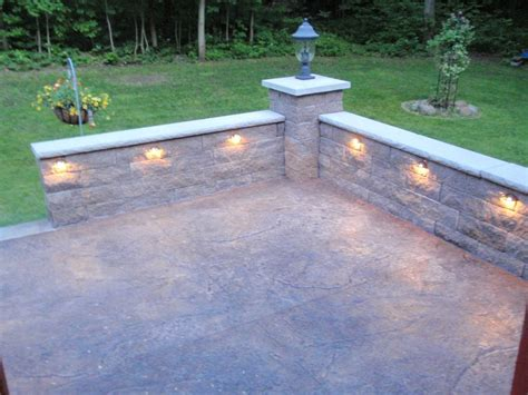 stone knee wall for patio retaining wall image 2 in 2019