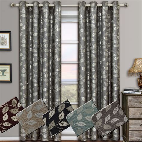 Window Drapes by Luxury Grommet Jacquard Window Curtains Drapes