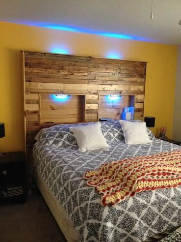 Lights Headboard by Pallet Headboard With Lights 5 Steps With Pictures