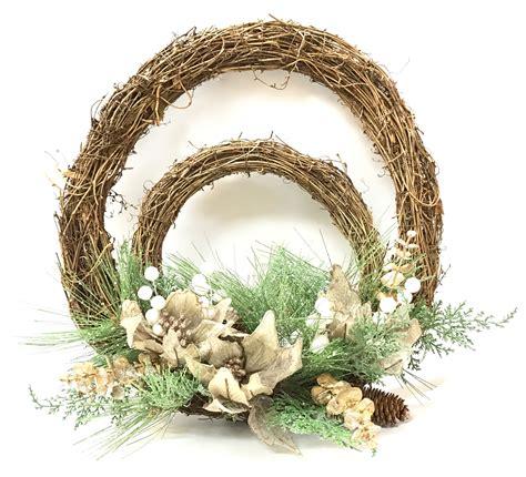 double twig poinsetta wreath sh10 fm325 7 70 toys