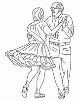 Dance Coloring Square Alabama Folk State Dancing Barbie Twelve Printable Princesses Getcolorings sketch template