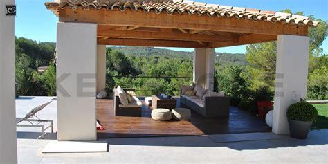 überdachung Terrasse Modern by Terrasse Moderne En Naturelle Gris D Asie Finition