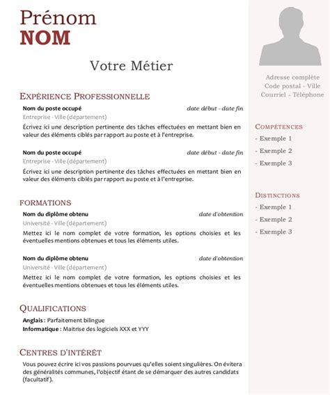 Lettre De Cv by Exemple Lettre De Cv Modele Lettre Administrative