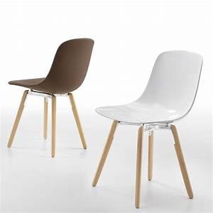 Chaise Bois Design : chaise design en plexi pieds bois pure loop wooden infiniti 4 pieds tables chaises et ~ Teatrodelosmanantiales.com Idées de Décoration