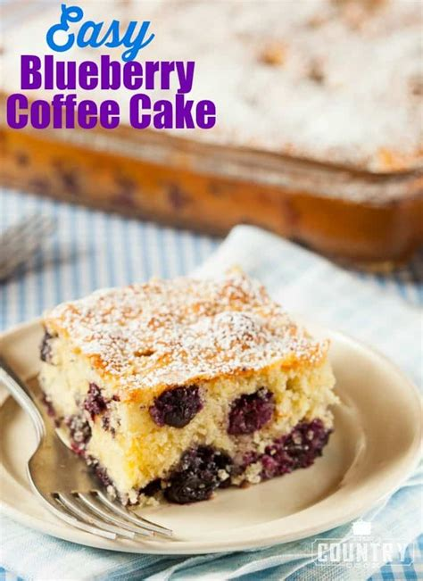 This mixed berry coffee cake is just a slight twist on the classic coffee cake. Easy Blueberry Coffee Cake - The Country Cook