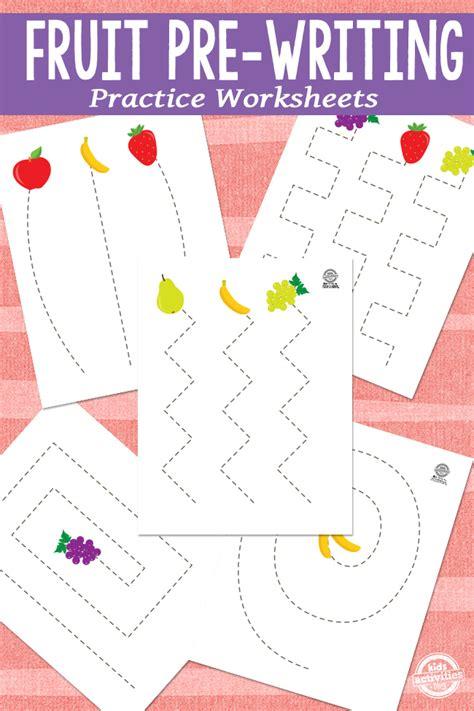 fruit pre writing practice
