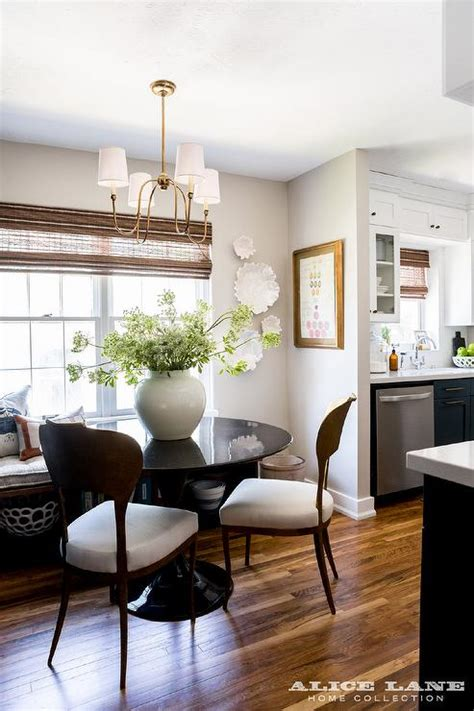 Kitchen Table Chandelier by Glossy Black Dining Table With Vendome Small