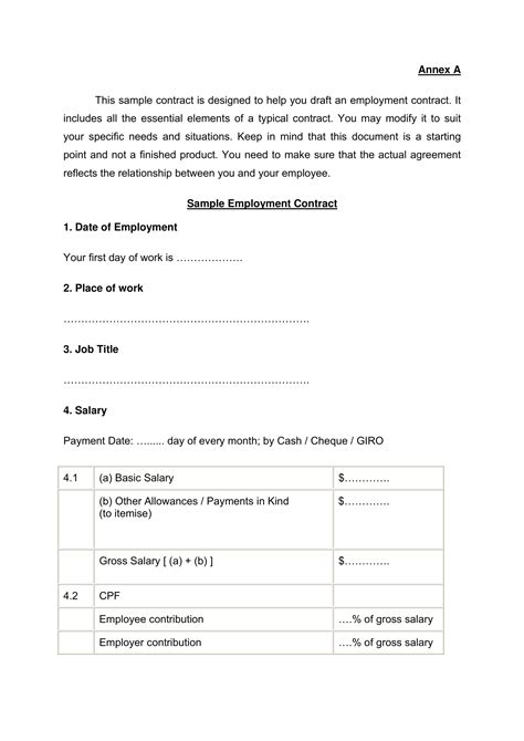22+ Examples of Employment Contract Templates - Word, Apple Pages, Google Docs | Examples