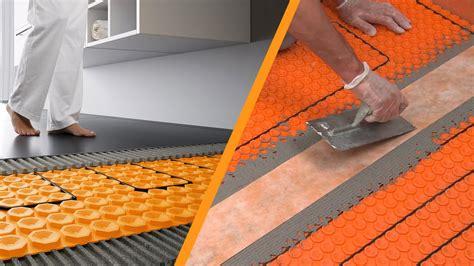 schlueter ditra heat  instalacion en suelos youtube