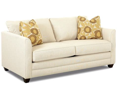 klaussner tilly small sleeper sofa with size mattress