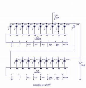 12v Battery Level Indicator Circuit  Led Bargraph  Circuit Diagram World