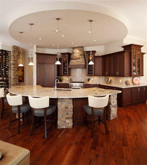 curved kitchen island designs ideas design trends