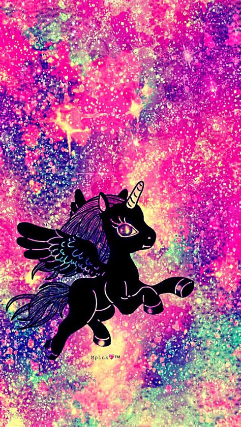 Galaxy Unicorn Neon Wallpaper by Rainbow Unicorn Galaxy Wallpaper Androidwallpaper