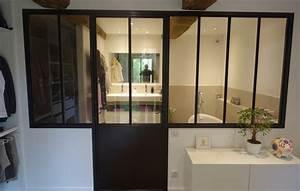 Verriere et cloison vitree type atelier d39artiste for Salle de bain verriere
