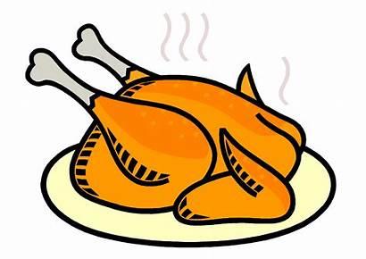 Turkey Chicken Clipart Meat Thanksgiving Dinner Drive