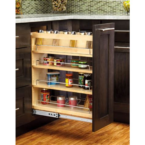 Base Cabinet Pull Out Spice Rack by Cabinet Organizers Adjustable Wood Pull Out Organizers