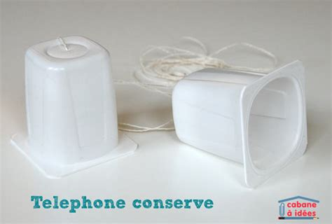t 233 l 233 phone pots de yaourt cabane 224 id 233 es