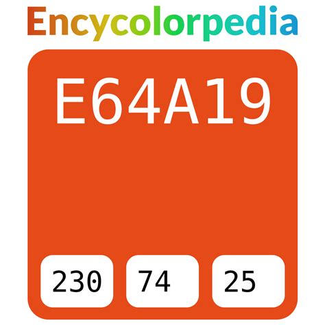 In the hsl color space #ff2800 has a hue of 9° (degrees), 100% saturation and 50% lightness. #e64a19 Hex Color Code, RGB and Paints