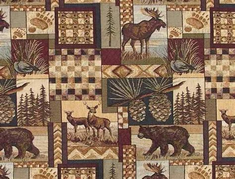 log cabin fabrics rustic log cabin lodge upholstery fabric view in your