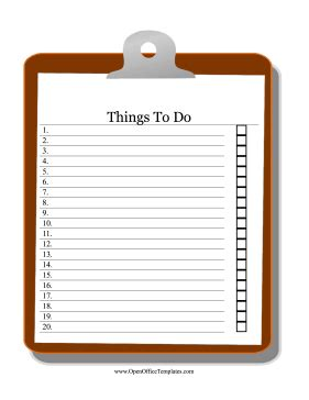 clipboard   list openoffice template
