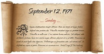 What Day Of The Week Was September 12, 1971?