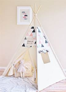 Tipi Zelt Mädchen : rosa pfirsich grauen creme schattiert dreiecke leinwand tipi zelt tipi play house ~ Orissabook.com Haus und Dekorationen