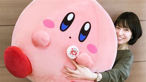 giant kirby plush rolling  japanese stores nintendo wire