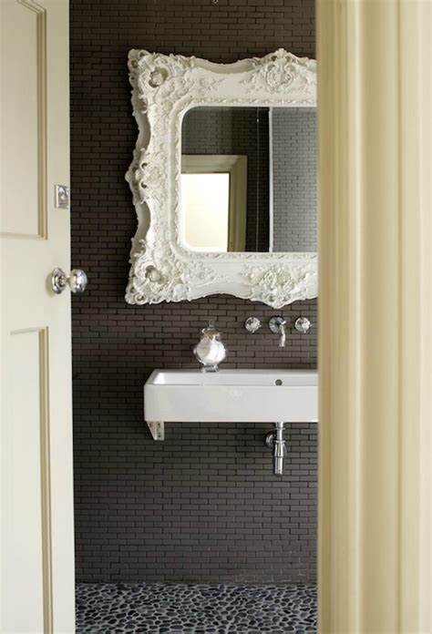 White Baroque Mirror  Contemporary  Bathroom  1st Option