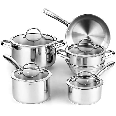 cookware gas sets stainless steel stoves ceramic cooks amazon