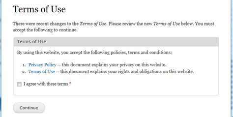 terms of use site disclaimer drupal org