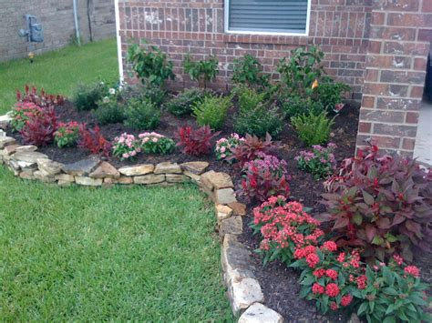 simple flower bed ideas flower beds terranova landscapes