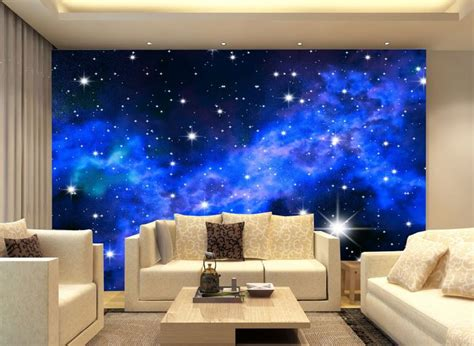 blue star galaxy  wall paper wall print decal wall