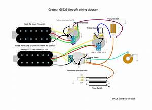 Wiring Diagram For G5623  Red  Project Guitar