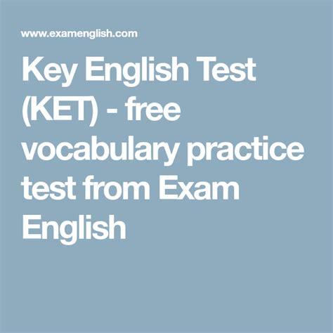 key english test ket  vocabulary practice test